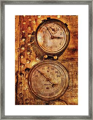 Steampunk - Gauges Framed Print by Mike Savad