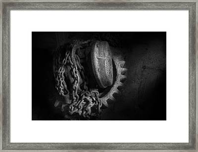 Steampunk - Gear - Hoist And Chain Framed Print by Mike Savad