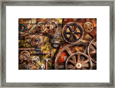 Steampunk - Gears - Inner Workings Framed Print by Mike Savad