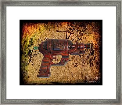 Steampunk - Gun - Ray Gun Framed Print by Paul Ward