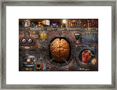 Steampunk - Information Overload Framed Print by Mike Savad