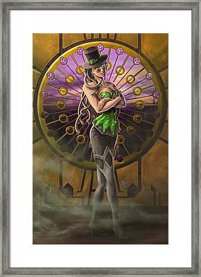 Steampunk Medusa Framed Print by Rob Carlos