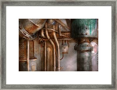 Steampunk - Plumbing - Industrial Abstract  Framed Print by Mike Savad