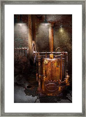 Steampunk - Powering The Modern Home Framed Print by Mike Savad