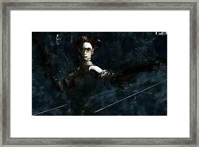 Steampunk Stand-off Framed Print by Maynard Ellis
