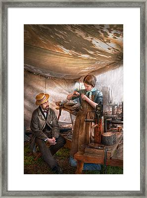 Steampunk - The Apprentice Framed Print by Mike Savad