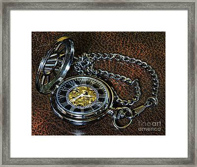 Steampunk - The Pocketwatch Framed Print by Paul Ward