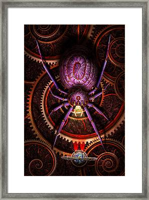 Steampunk - The Webs We Weave Framed Print by Mike Savad