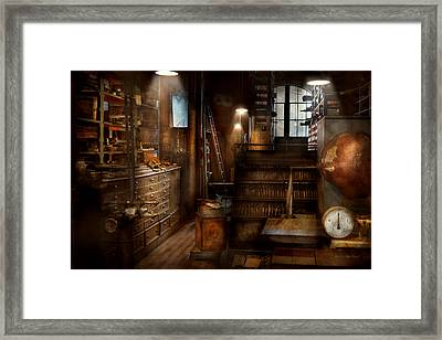 Steampunk - Tool Room Of A Mad Man Framed Print by Mike Savad
