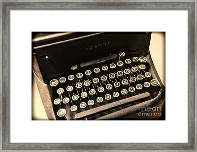 Steampunk - Typewriter - The Age Of Industry Framed Print by Paul Ward
