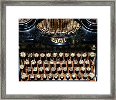 Steampunk - Typewriter -the Royal Framed Print by Paul Ward