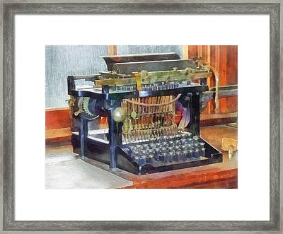 Steampunk - Vintage Typewriter Framed Print by Susan Savad