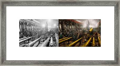 Steampunk - War - We Are Ready - Side By Side Framed Print by Mike Savad