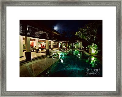 Steamy Night Framed Print by Aiolos Greek Collections
