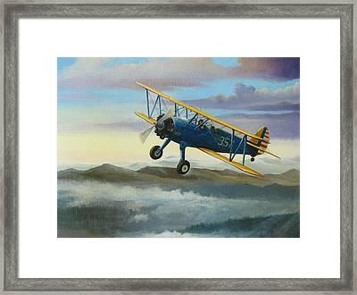Stearman Biplane Framed Print by Stuart Swartz