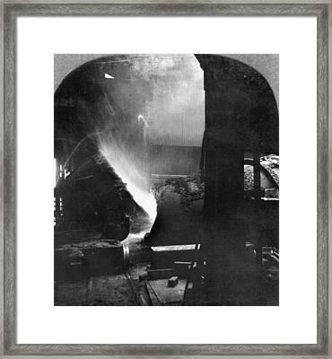 Steel Factory, C1905 Framed Print by Granger