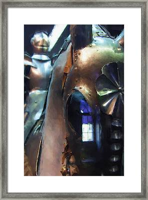 Steel Knight Framed Print by Ayse Deniz