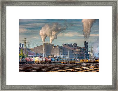 Steel Mill And Freight Yard I Framed Print by Clarence Holmes