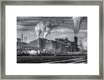 Steel Mill And Freight Yard II Framed Print by Clarence Holmes