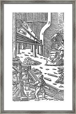 Steel Production Framed Print by Universal History Archive/uig