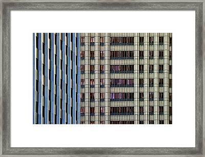 Steelness Of Geometry Framed Print by Joanna Madloch