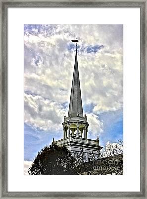Steeple At Caz Framed Print by Steve Ratliff