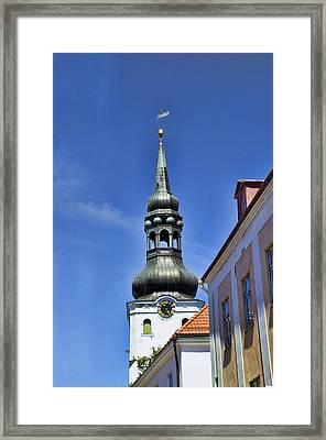 Steeple - Tallin Estonia Framed Print by Jon Berghoff