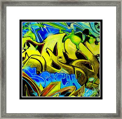 Steet Expression Framed Print by Mylene Le Bouthillier