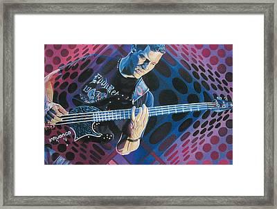 Stefan Lessard Pop-op Series Framed Print by Joshua Morton