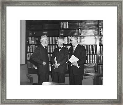 Steichen And Sandburg Framed Print by Underwood Archives