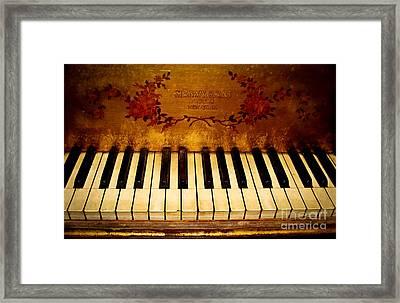 Steinway Golden Grand  Framed Print by Colleen Kammerer