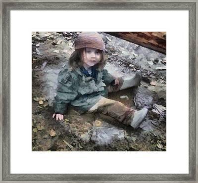 Stella In The Mud Framed Print by Gun Legler
