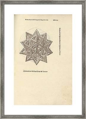 Stellated Dodecahedron Framed Print by Library Of Congress