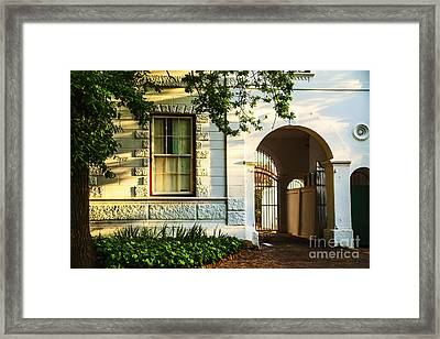 Stellenbosch Gate Framed Print by Rick Bragan