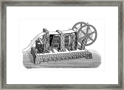 Stenotelegraph Framed Print by Science Photo Library
