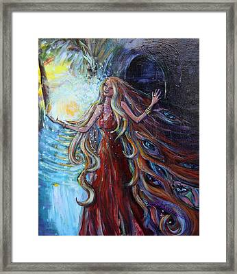 Step Out Of The Darkness Framed Print by Susi LaForsch