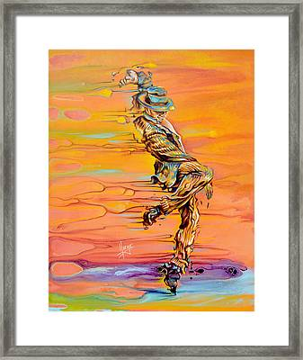 Step Up Framed Print by Karina Llergo