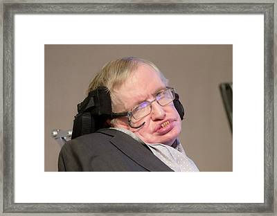 Stephen Hawking Framed Print by Mark Thomas