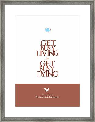 Stephen King Shawshank Redemption Movie Poster Framed Print by Lab No 4 - The Quotography Department