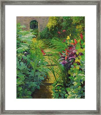 Stepped Path, 20078 Oil On Canvas Framed Print by William Ireland
