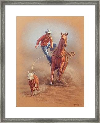 Steppin' Down At Red Lodge Framed Print by Paul Krapf