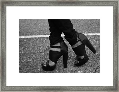 Stepping Out 2 Framed Print by Ester  Rogers
