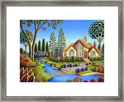 Stepping Stone Creek Framed Print by Andy Russell