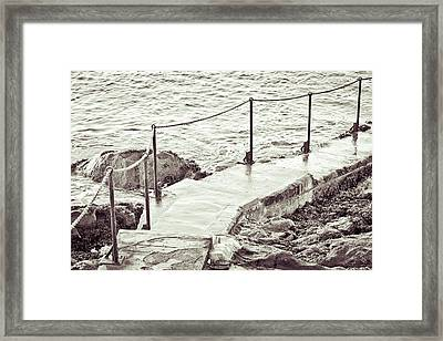 Steps At The Sea Framed Print by Tom Gowanlock