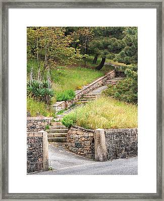 Steps Guiding The Way Framed Print by Gill Billington