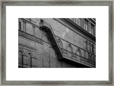 Steps On 7th Avenue  - New York Framed Print by Marianna Mills