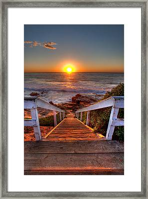 Steps To The Sun  Framed Print by Peter Tellone
