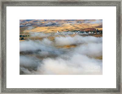 Steptoe Fog Clearing Framed Print by Mike  Dawson