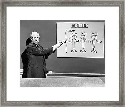 Stern Lectures On Self-sterility Framed Print by American Philosophical Society