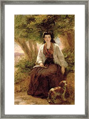 Sternes Maria, From A Sentimental Framed Print by William Powell Frith
